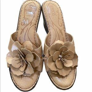 Born Tan Leather Sandal Heels 10M